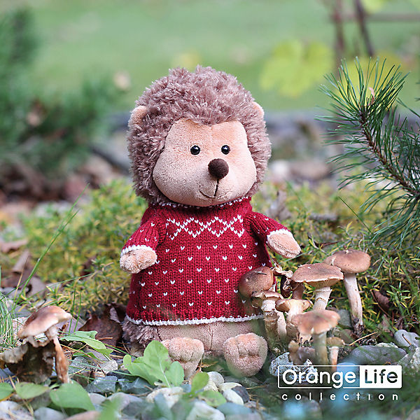 Мягкая игрушка Orange Life Ёжик Колюнчик в свитере, 20 см