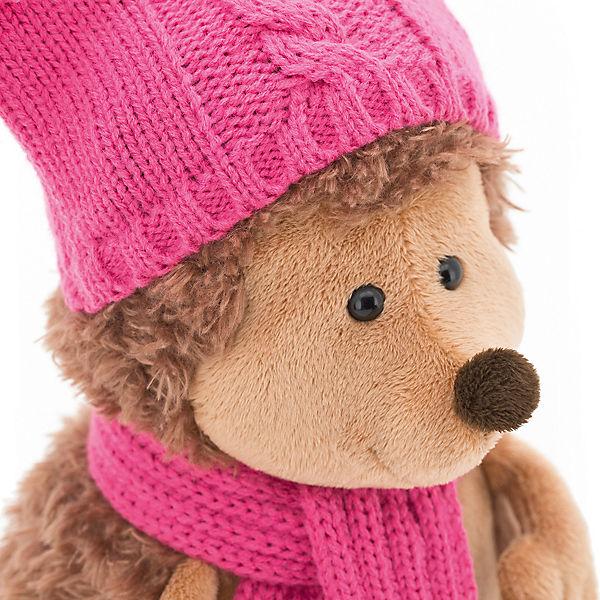 """Мягкая игрушка Orange """"Life"""" Ежинка Колючка в шапке с двумя помпонами, 26 см"""