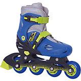 Раздвижные роликовые коньки Moby Kids 34-37, сине-зелёные