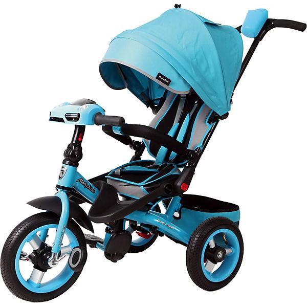 """Трехколесный велосипед Moby Kids """"Leader 360° Air Car"""" 12x10, бирюзовый"""