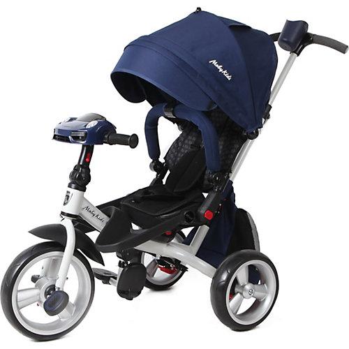 "Трехколесный велосипед Moby Kids ""Leader 360° Air Car"" 12x10, синий от Moby Kids"
