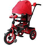 """Трёхколёсный велосипед Moby Kids """"Leader 360° Air Car"""" 12x10, красный"""