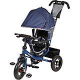"""Трёхколёсный велосипед Moby Kids """"Comfort Air"""" 12x10, синий"""