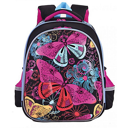 Рюкзак школьный Grizzly, чёрный - черный от Grizzly