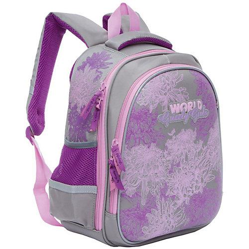 Рюкзак школьный Grizzly, светло-серый - светло-серый от Grizzly