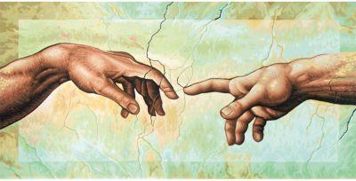 "Картина по номерам Schipper ""Репродукция Сотворение Адама» Микеланджело Буонаротти, 40х80 см"