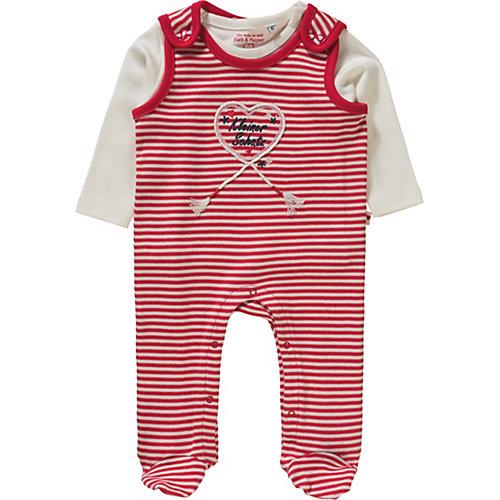 Strampler Set mit Langarmshirt , Pailletten Gr. 56 Mädchen Baby | 04054432927332