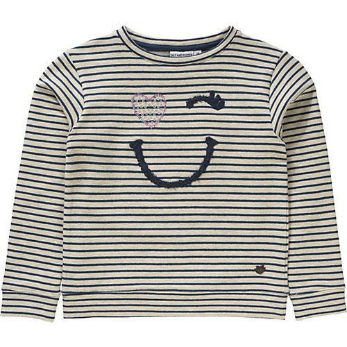 Sweatshirt mit Frotteestick und Pailletten Gr. 116/122 Mädchen Kinder | 04054432920470
