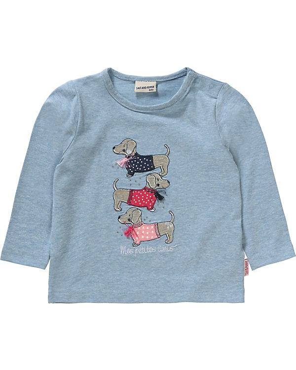 3ebf0d1397d2 Baby Langarmshirt mit Strasssteinen für Mädchen, Salt and Pepper ...