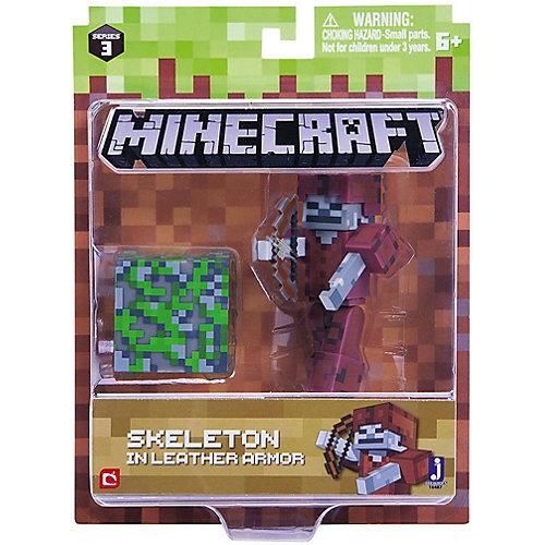 Игровая фигурка Jazwares Minecraft Skeleton in Leather Armor,  8 см от Jazwares
