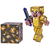 Игровая фигурка Jazwares Minecraft Steve in Gold Armor,  8 см