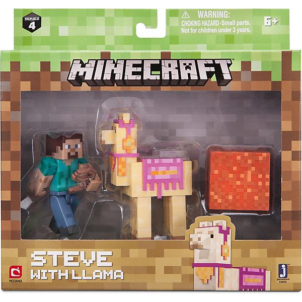 "Набор фигурок Jazwares ""Minecraft"" Steve with Llama, 8 см"