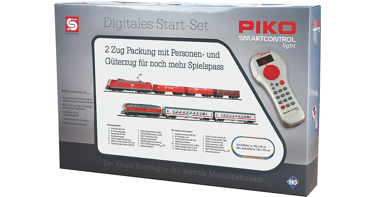 PIKO · H0 PIKO SmartControl light 2-Zug-Set BR 185 + BR 218