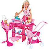 """Игровой набор с куклой Simba """"Steffi Love"""" Штеффи с 3 малышами, 29 см"""