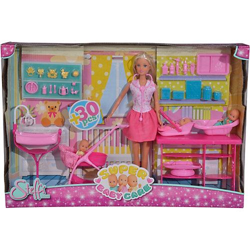 """Игровой набор с куклой Simba """"Steffi Love"""" Штеффи с 3 малышами, 29 см от Simba"""
