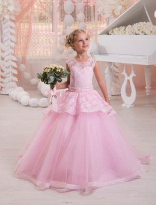 Платье Престиж для девочки - розовый