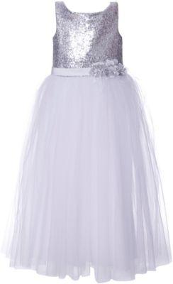 Платье Престиж для девочки - серый