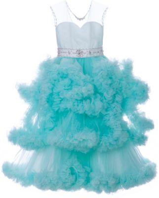 Платье Престиж для девочки - зеленый