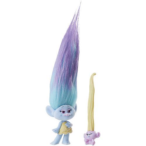 """Игровой набор Trolls """"Тролли с супер длинными волосами"""", голубой тролль от Hasbro"""