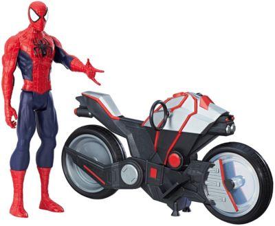 Фигурка Marvel Avengers Человек-паук с мотоциклом, 30 см