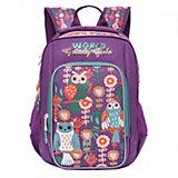 Рюкзак школьный Grizzly, фиолетовый