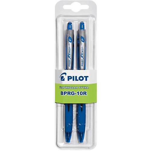 Шариковые ручки Pilot 0,7 мм 2 шт, синие от Pilot