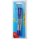 """Шариковые ручки Luxor """"Style"""" 2 шт, синие"""