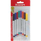 """Набор капилярных ручек Luxor """"Finliner mini"""" 8 шт, 8 цветов"""