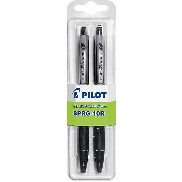 Шариковые ручки Pilot 0,7 мм 2 шт, чёрные
