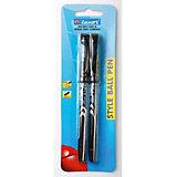 """Шариковые ручки Luxor """"Style"""" 2 шт, чёрные"""