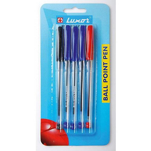 """Шариковые ручки Luxor """"Focus"""" 5 шт, 3 цвета от Luxor"""