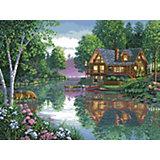 Набор для вышивания Белоснежка «Лесное озеро», 47х60 см