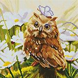 Алмазная мозаика Белоснежка «Сова Везучка», 30х30 см