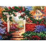 Набор для вышивания бисером Белоснежка «Цветущая усадьба», 24х30 см