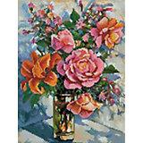 Алмазная мозаика Белоснежка «Натюрморт с розами», 30х40 см