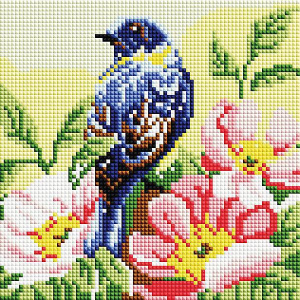 Алмазная мозаика Белоснежка «Птичка», 20х20 см