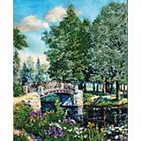 Набор для вышивания бисером Белоснежка «Мостик в парке», 24х30 см