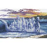 Набор для вышивания Белоснежка «Волны- скакуны», 445х62 см