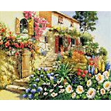 Алмазная мозаика Белоснежка «Итальянский дворик», 50х40 см