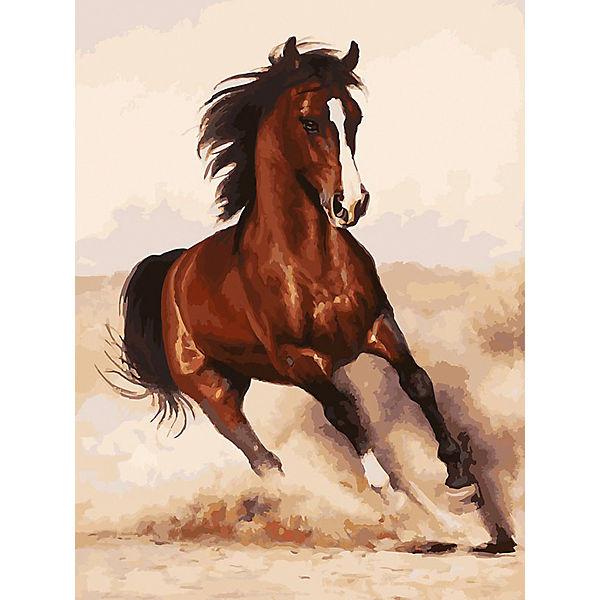 Картина по номерам Белоснежка «Галоп», 30x40 см