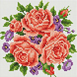 Алмазная мозаика Белоснежка «Розы и фиалки» ,20х20 см