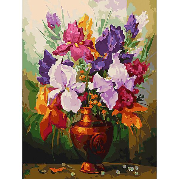 Картина по номерам Белоснежка «Ирисы», 30x40 см