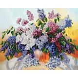 Набор для вышивания бисером Белоснежка «Сирень», 24х30 см