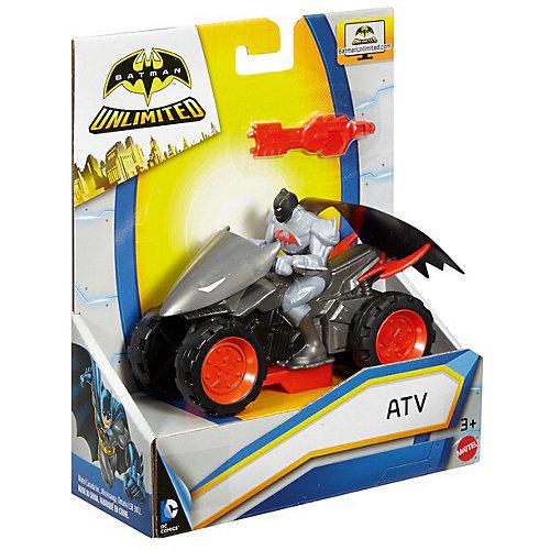 Транспортное средство DC Super Heroes Квадроцикл Бетмена, 15 см от Mattel