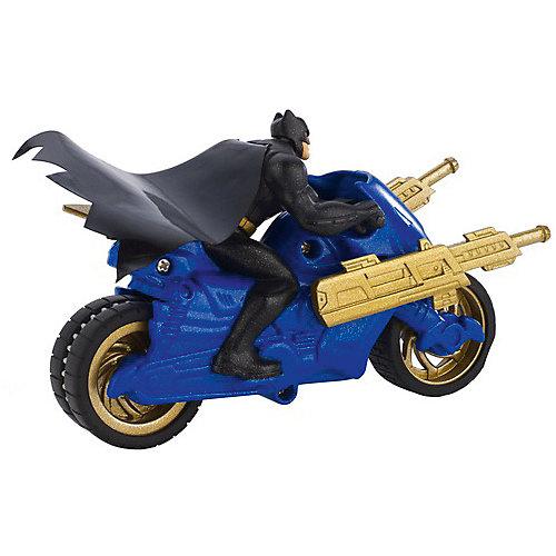 Транспортное средство DC Super Heroes Мотоцикл Бетмена, 15 см от Mattel