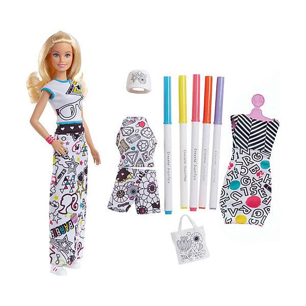 """Игровой набор Barbie + Crayola """"Одежда-раскраска"""", 29 см"""