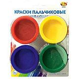 Краски пальчиковые Abtoys 4 цвета