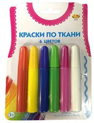 Краски по ткани Abtoys 6 цветов