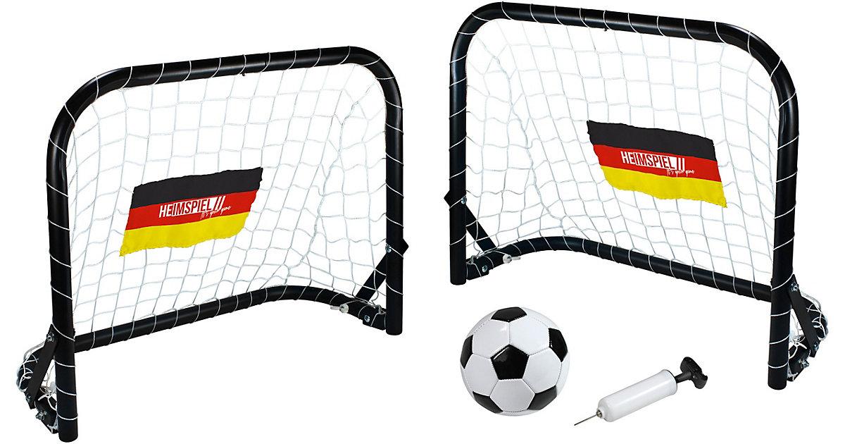 Deutschland Mini Fußballtor-Set mehrfarbig