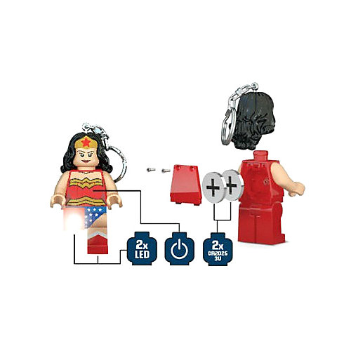"Брелок-фонарик для ключей LEGO ""Super Heroes"", Wonderwoman от LEGO"
